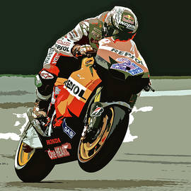 Motorcycle Racer Wheelie