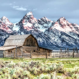 Moulton Barn Mormon Row Grand Tetons Wyoming by Gigi Ebert