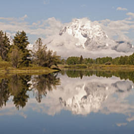 Brian Harig - Mount Moran On Oxbow Bend Panorama