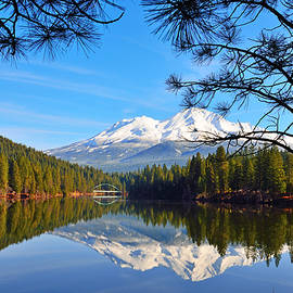 Kathy Yates - Mount Shasta Reflections on the Lake