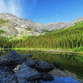 Joan Carroll - Mountain Lake Alberta Canada Painterly