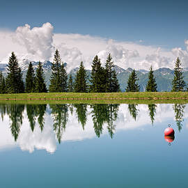 Mountain Lake And Firs With Reflection On Schmittenhohe Zell Am See Trail by Aivar Mikko