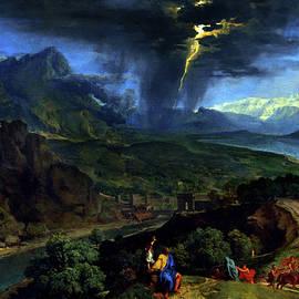 Olivier Blaise - Mountain landscape with lightning