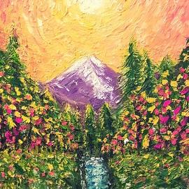 Mountain Stream Sunset by Jessica T Hamilton