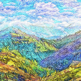 Joel Bruce Wallach - Mountain Waves - Boulder Colorado Vista