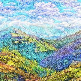 Mountain Waves - Boulder Colorado Vista by Joel Bruce Wallach