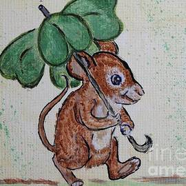 Ella Kaye Dickey - Mouse with Four Leaf Clover Umbrella painting #893