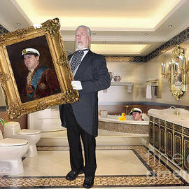 Jim Fitzpatrick - Mr. Goldsworth Bringing Alexander G. Bernard His Favorite Painting during Bath Time