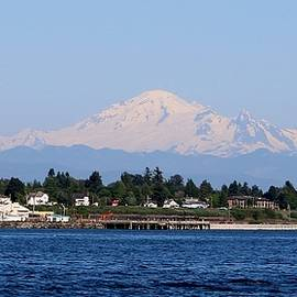 Mt. Baker - View From The Water by Christy Pooschke
