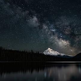 Mt. Hood And The Milky Way by Ken Dietz