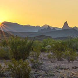 Mule Ears Sunrise 1 - Big Bend National Park - Texas by Brian Harig