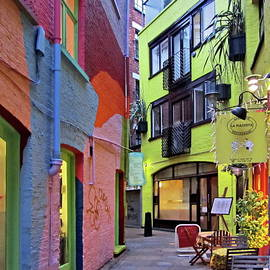 Multicolored Neal's Yard in London by Lyuba Filatova