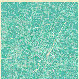 MUNICH STREET MAP 2 - Jazzberry Blue