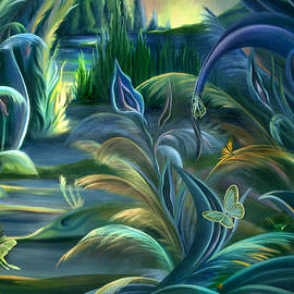 Nancy Griswold - Mural  Insects of Enchanted Stream