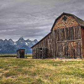 Murphy Barn And Tetons by Michael Morse