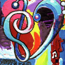 Music Art With Heart by Genevieve Esson