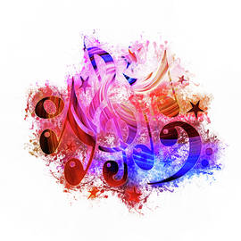 Ian Mitchell - Musical Notes Art