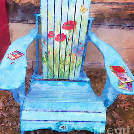 Claire Bull - Muskoka Chair with Flowers