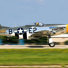 Mustang by Aircraft  In Motion