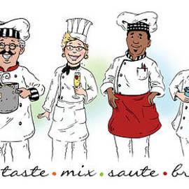 My Chefs In A Row-i by Shari Warren