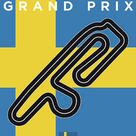 My F1 ANDERSTORP Race Track Minimal Poster - Chungkong Art