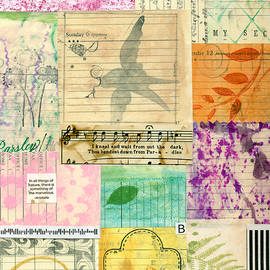 My Secret - Paper Collage by Sandra Foster
