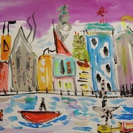 Mary Carol Williams - My Thought of New York Purple Sky
