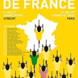 My Tour De France Minimal Poster Etapes 2015 by Chungkong Art