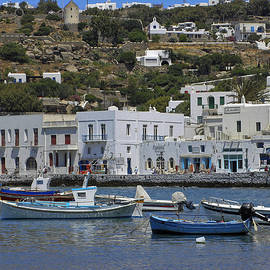 Sally Weigand - Mykonos Harbor Scene