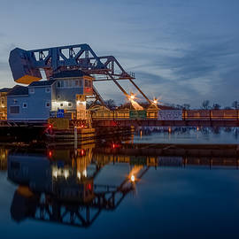 Mystic Drawbridge at Twilight by Kirkodd Photography Of New England