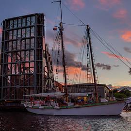 Mystic Drawbridge Sunset Cruse by Kirkodd Photography Of New England