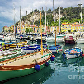 Napoleon's Boat in Nice Harbor, France 2 by Liesl Walsh