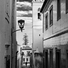 Barry O Carroll - Narrow Street and Bell Tower in Tavira - Portugal