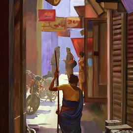 Dominique Amendola - Narrow Street in India
