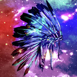 native headdress space - Bekim Art