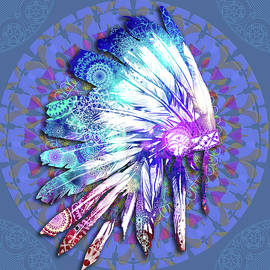 native mandala headdress - Bekim Art