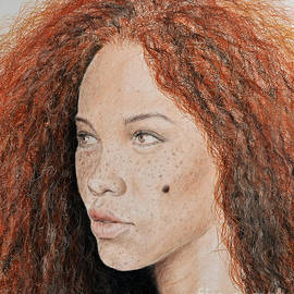 Natural Beauty with Red Hair  by Jim Fitzpatrick