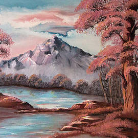 Ronel Broderick - Nature in Pink Oil on Canvas