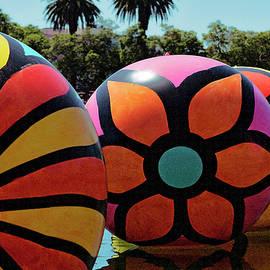 Neon Balls Of Macarthur Park by Lorraine Devon Wilke