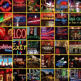 Neon of New York - Picture Panel by Miriam Danar