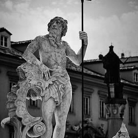 Neptune Fountain in Piazza Della Borsa, Trieste, Italy by A Cappellari