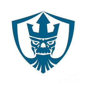 Aloysius Patrimonio - Neptune Skull Trident Crown Crest Icon