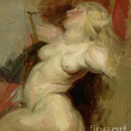 Nereid copy after Rubens - Ferdinand Victor Eugene Delacroix