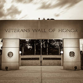 Gregory Ballos - Never Forget - Veterans Wall of Honor - Bella Vista Arkansas - Sepia