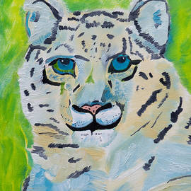 Eyes On You Snow Leopard by Meryl Goudey
