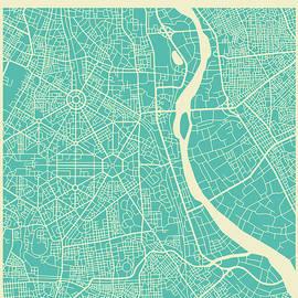 NEW DELHI STREET MAP - Jazzberry Blue
