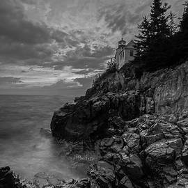 Juergen Roth - New England Black and White Photography of Bass Harbor Lighthouse