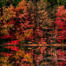 New England Fall Foliage Reflection by Jeff Folger