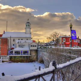 Joann Vitali - New England Winter Scene - Milford, New Hampshire