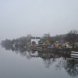 Bill Cannon - New Hope River View on a Misty Day
